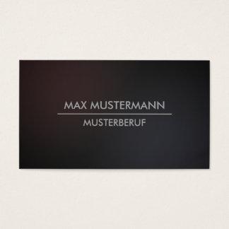Darken minimalistic modern visiting cards
