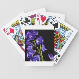Darken purple blooms bicycle playing cards