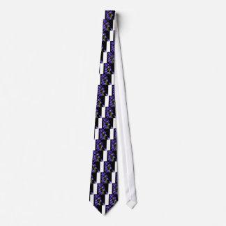 Darken purple blooms tie