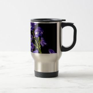 Darken purple blooms travel mug