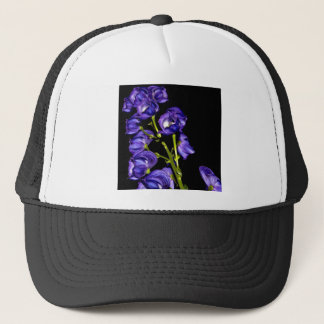 Darken purple blooms trucker hat
