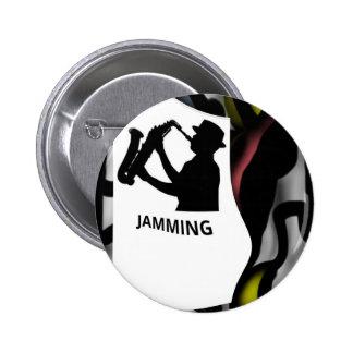 Darker Saxophone Jamming 6 Cm Round Badge