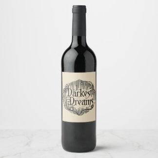 Darkest Dreams Wine Label