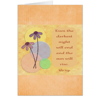 Darkest Night --Inspirational Greeting Card