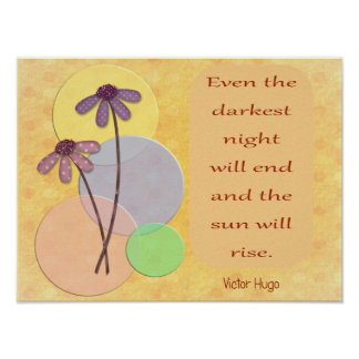 Darkest Night Will End -- Art Print -Inspirational