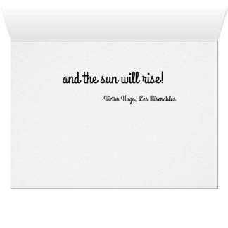 Darkest Night will end Greeting card
