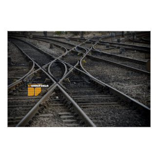 Darkfield train tracks poster