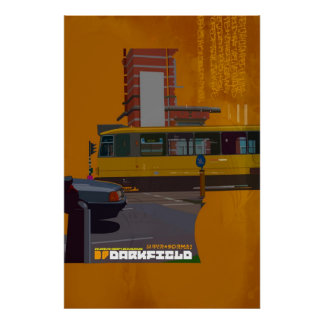 Darkfield tram illustration poster