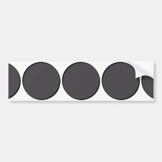 DarkGrey Dot Bumper Sticker