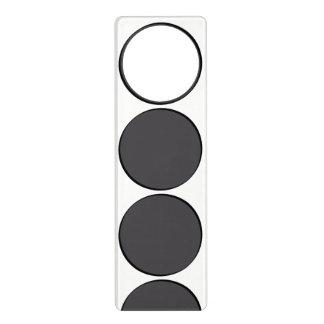 DarkGrey Dot Door Hanger