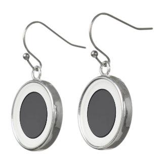 DarkGrey Dot Earrings