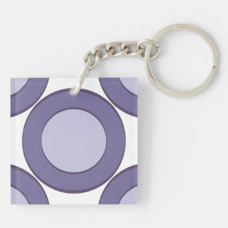 DarkGrey Dot Key Ring