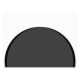 DarkGrey Dot Postcard