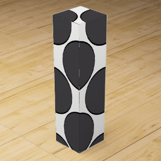 DarkGrey Dot Wine Box