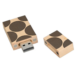 DarkGrey Dot Wood USB Flash Drive