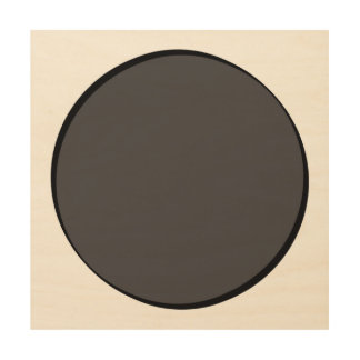 DarkGrey Dot Wood Wall Art