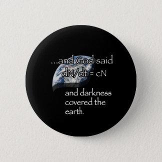 Darkness (earth) 6 cm round badge