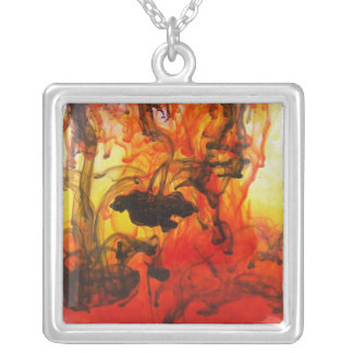 Darkness Falls Silver Plated Necklace