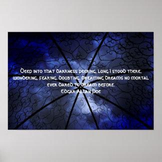 Darkness Gazebo - Edgar Allen Poe Poster
