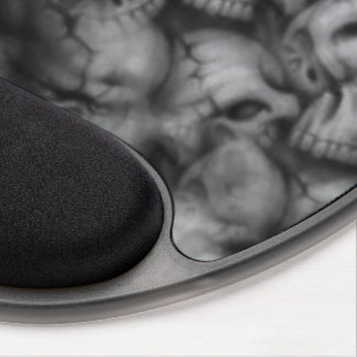 darkness skull head textures gel mouse pad