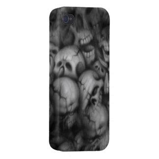 darkness skull head textures iPhone 4/4S cases