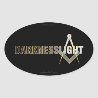 Darkness To Light Oval Auto Sticker