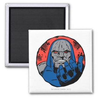 Darkseid  Head Shot 2 Square Magnet