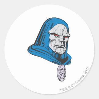 Darkseid Head Shot Round Sticker