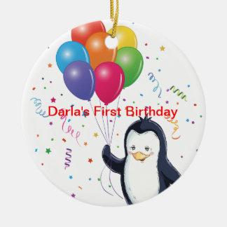 Darla's First Birthday Ceramic Ornament