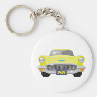 Darlene's T Bird Basic Round Button Key Ring