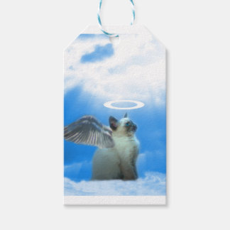 Darling Angel Kitty Cat Christmas Gift Tag