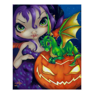 Darling Dragonling II ART PRINT Halloween Dragon