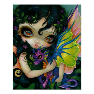 Darling Dragonling V ART PRINT Dragon Fairy