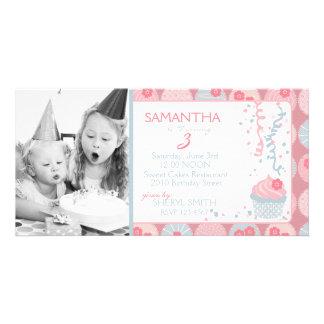 Darling Girl Invitation Photo Card