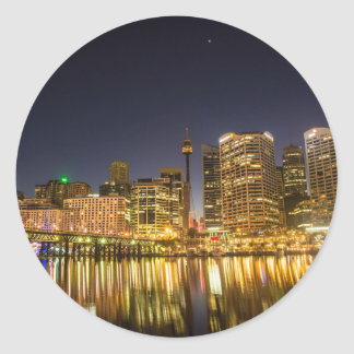 Darling Harbour, Sydney Classic Round Sticker