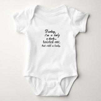 darling i am a lady a dark twisted one baby bodysuit