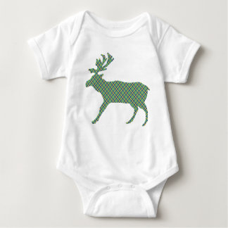 Darling Plaid Deer Baby Bodysuit