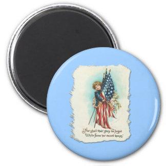 Darling Vintage Americana Design 6 Cm Round Magnet