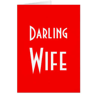 Darling Wife Merry Christmas Card
