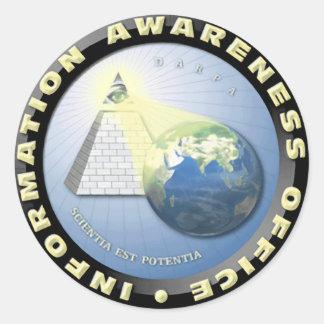 DARPA Office of Information Awareness Seal Round Sticker
