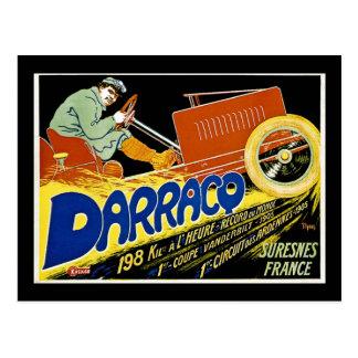 Darraco Vintage Race Car - Suresnes France Postcard