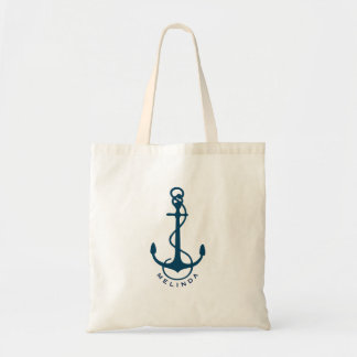 Darrk-blueNautical Boat Anchor Tote Bag