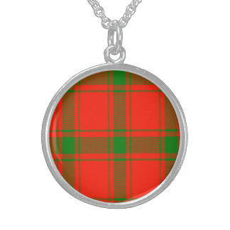 Darroch Scottish Tartan Sterling Silver Necklaces