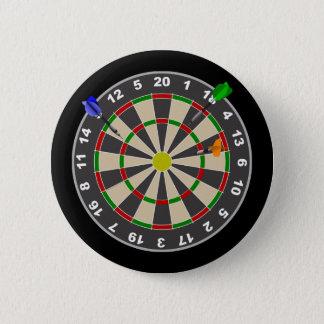 Dart Board 6 Cm Round Badge
