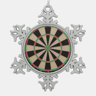 """""""Dart Board"""" design gifts and products Pewter Snowflake Decoration"""