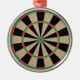 """""""Dart Board"""" design gifts and products Silver-Colored Round Decoration"""