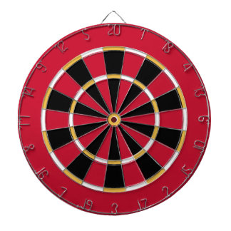 Dart Board in Calgary Hockey Colors