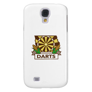 Dart Board Iowa State Map Corn Retro Samsung Galaxy S4 Covers