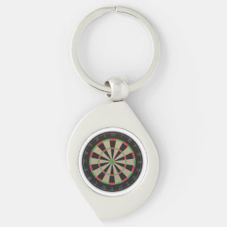 Dart Board Key Ring