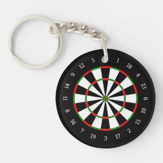Dart Board Key Ring